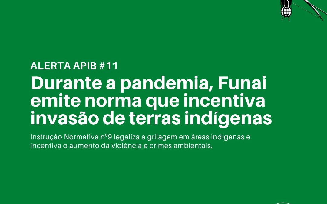 Durante a pandemia, Funai emite norma que incentiva invasão de terras indígenas