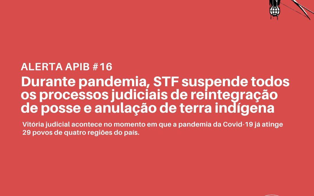 Durante pandemia, STF suspende todos os processos judiciais de reintegração de posse e anulação de terra indígena