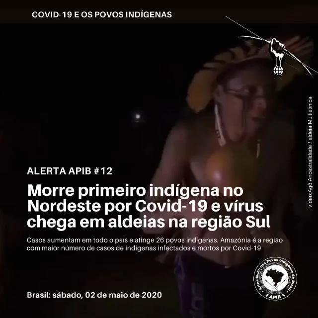 Morre primeiro indígena no Nordeste por Covid-19 e vírus chega em aldeias na região Sul